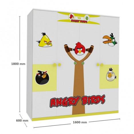 Tủ Quần Áo Trẻ Em Angry Bird (1m6)