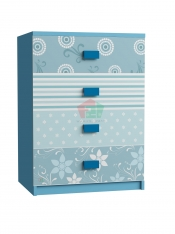 Cabinet hoa văn xanh dương 0608