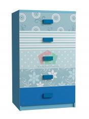 Tủ quần áo trẻ Em hình Hoa Văn (60x50x100 cm)