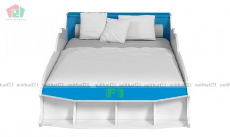 Giường Đơn Trẻ em Ôtô F1 xanh dương