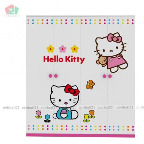 Tủ Quần Áo Trẻ Em Hello Kitty (1m6)