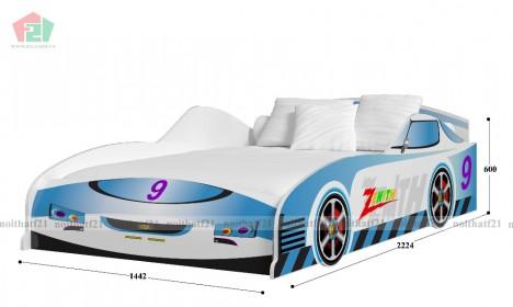 Giường Đơn Trẻ Em ÔTô  số 9 Xanh Dương
