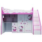 Giường tầng trẻ em Hello Kitty 3 trong 1
