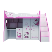 Giường Tầng Hello Kitty 3in1